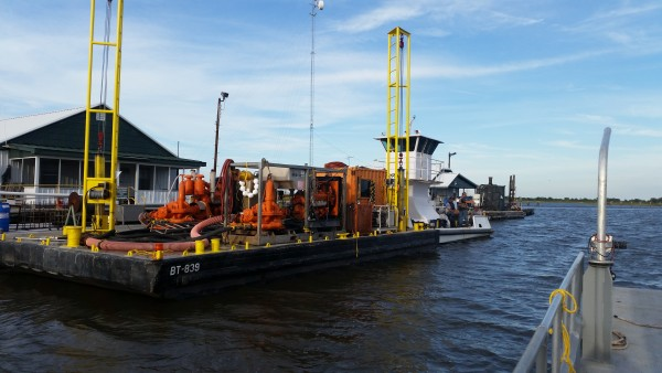 50' x 20' Spud Barge