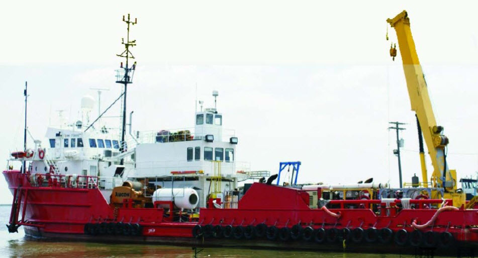 DSV Gulf Justice - 4-Point Diving Support Vessel